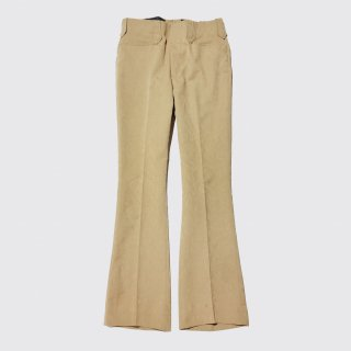 vintage leopard flare trousers