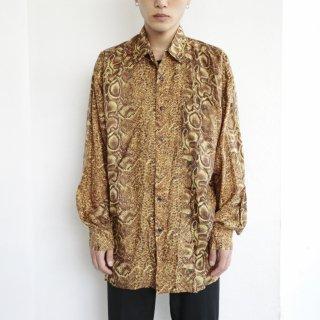 old python silk shirt