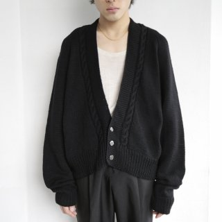 old cable cotton cardigan