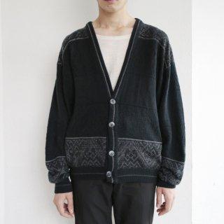 old oriental pattern cardigan