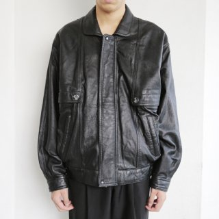 old double flap leather jacket