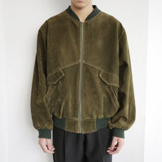 old faux suede bomber jacket