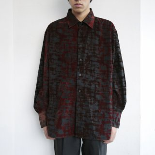 old flocked pattern shirt