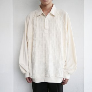 old knit combi polo l/s