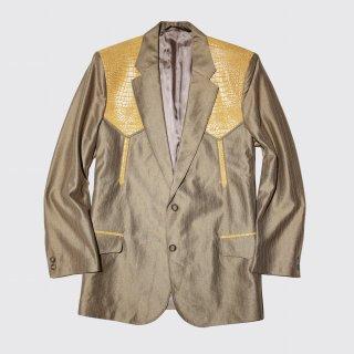 vintage python yoke western tailored jacket