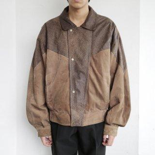 old animal yoke leather jacket