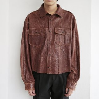 old winkle leather shirt