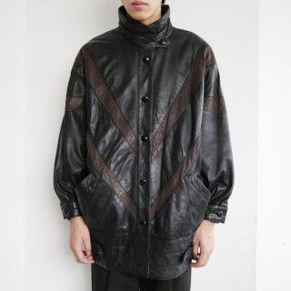 old dolman sleeve leather jacket