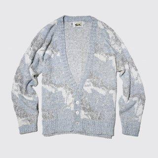 vintage le tiger frosting pattern cardigan