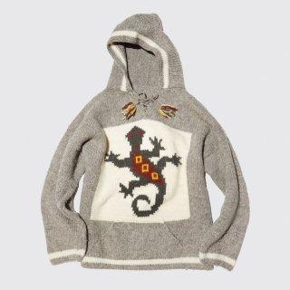 vintage native knit hoodie