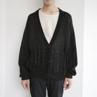 old cotton cable cardigan