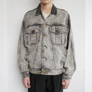 old chemical wash trucker jacket