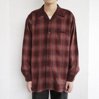 old open collar check shirt