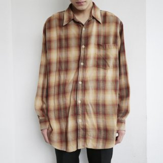 old gap ombre check shirt