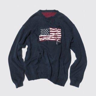 vintage broken frag sweater