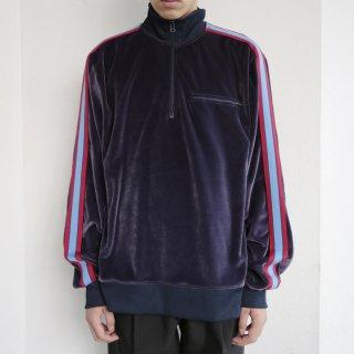 old oldnavy velour half zipped track jacket