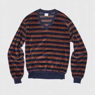 vintage jcpenny border velour shirt