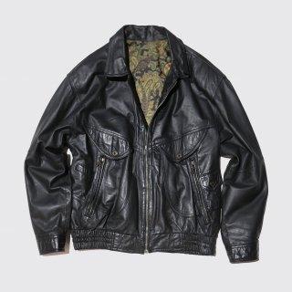 vintage loose aviator leather jacket