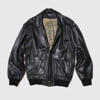 vintage replica a-2 aviator leather jacket