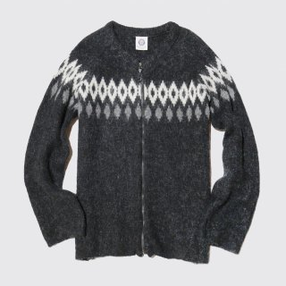 vintage nordic zipped sweater