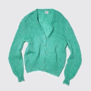 vintage ireland hand knit mohair cardigan