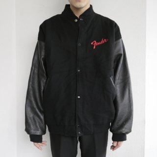 old fender leather sleeve jacket