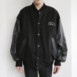 old enterprise leather sleeve jacket