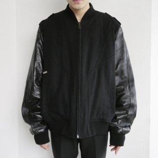 old sean jhon leather sleeve jacket