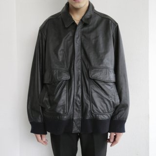 old replica a-2 aviator leather jacket