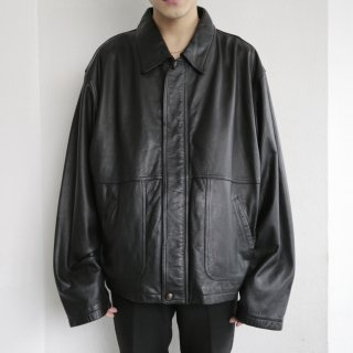 old loose zipped leather jacket