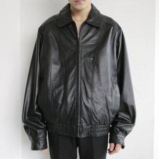 old wilson zipped leather jacket