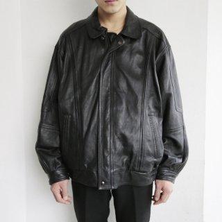 old zipped leather jacket