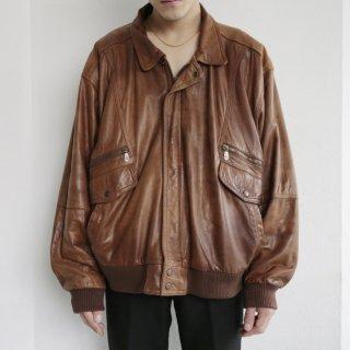 old aviator leather jacket