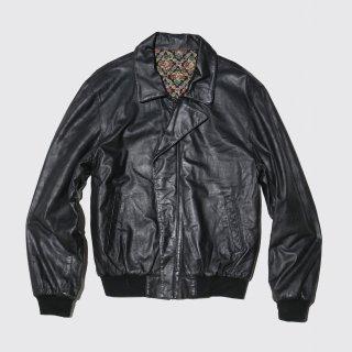 old rib leather jacket