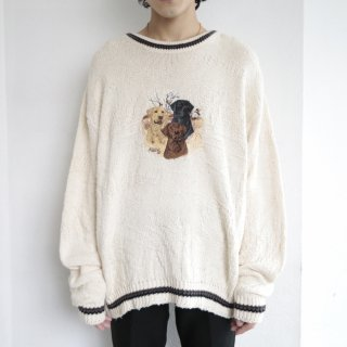old dog broderie loose sweater