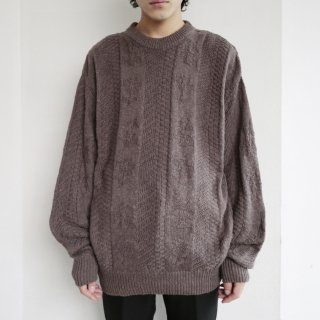 old cotton loose sweater