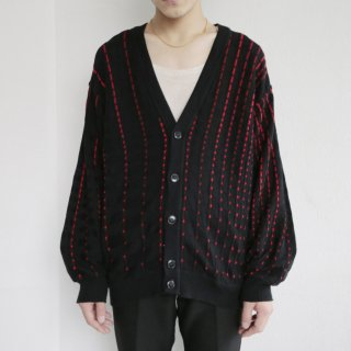 old stitched cardigan