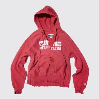 vintage broken hoodie , y2k champion reverse weave