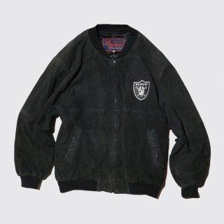 vintage raiders bomber jacket