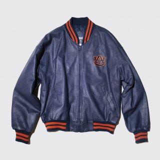 vintage auburn univ. leather varsity jacket