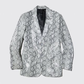 vintage python leather tailored jacket