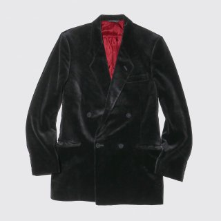 vintage velvet double breasted tailored jacket