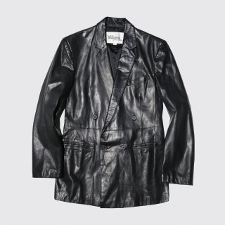 vintage wilson leather double breasted tailored jacket