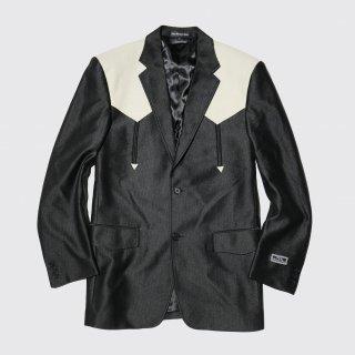 vintage ostrich yoke western tailored jacket