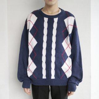old dior argyle cotton sweater