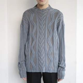 old versace cable sweater