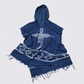 vintage thunder bird naive poncho hoodie