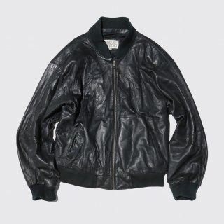 vintage pelle studio leather bomber jacket