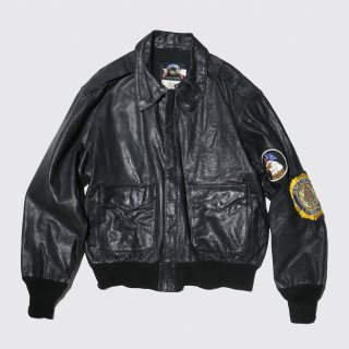 vintage cooper replica a-2 goat skin leather jacket