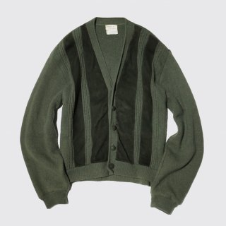 vintage sears leather combi cardigan